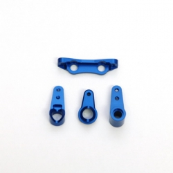 STRC CNC Machined Alum. Precision Steering Rack set (Blue)